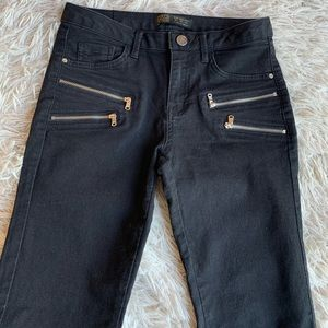 Zara Jeans - Zara Zippered Black Skinny Jeans